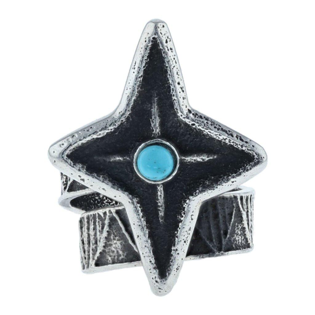 Navajo Cast Sterling Silver Star Ring