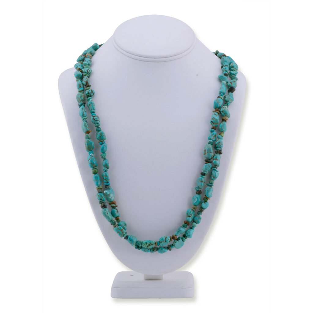 Hand Strug Chinese Turquoise Navajo Necklace