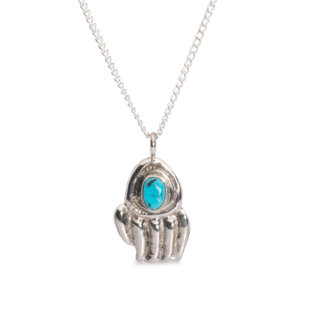 Navajo Bear Claw Turquoise Necklace