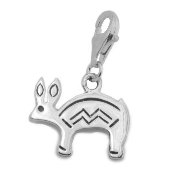 Navajo Sterling Silver Rabbit Charm
