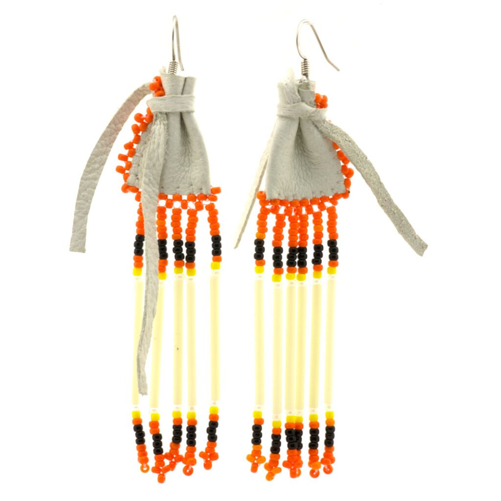 Navajo Beaded Medicine Bag Earrings