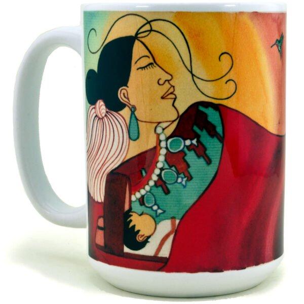 Native American Lady with her Baby Coffee Mug