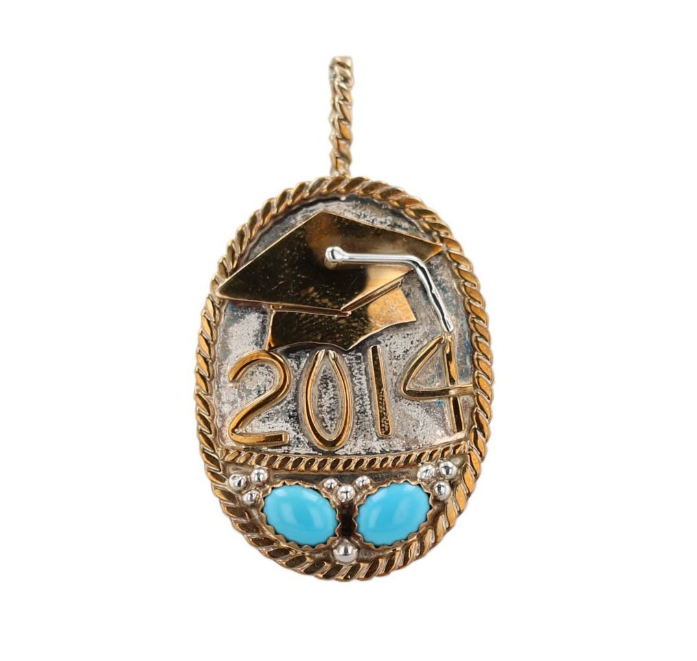 Silver and Bronze 2014 Graduation Necklace