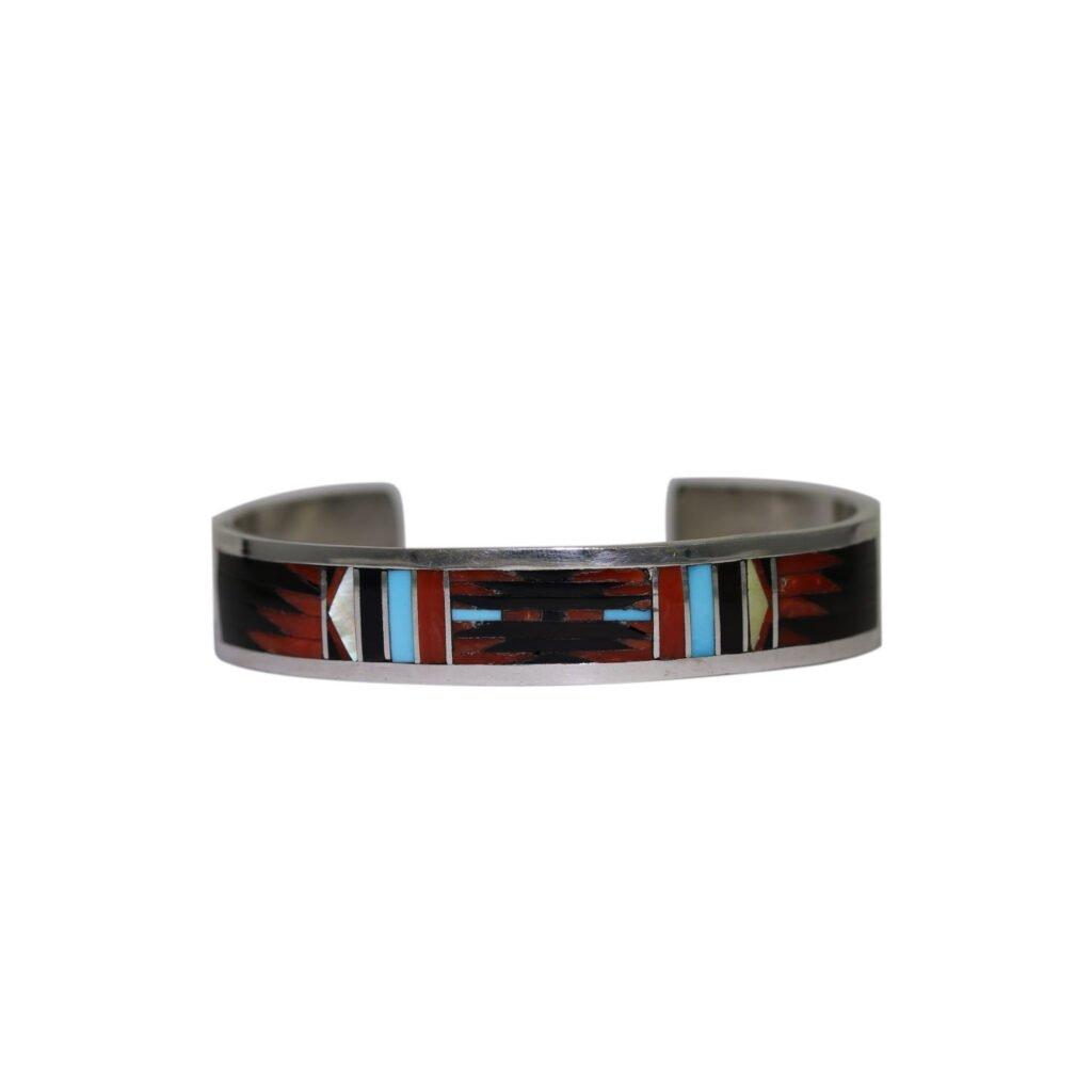 Multi-Stone Zuni Inlay Bracelet By C. Dishta