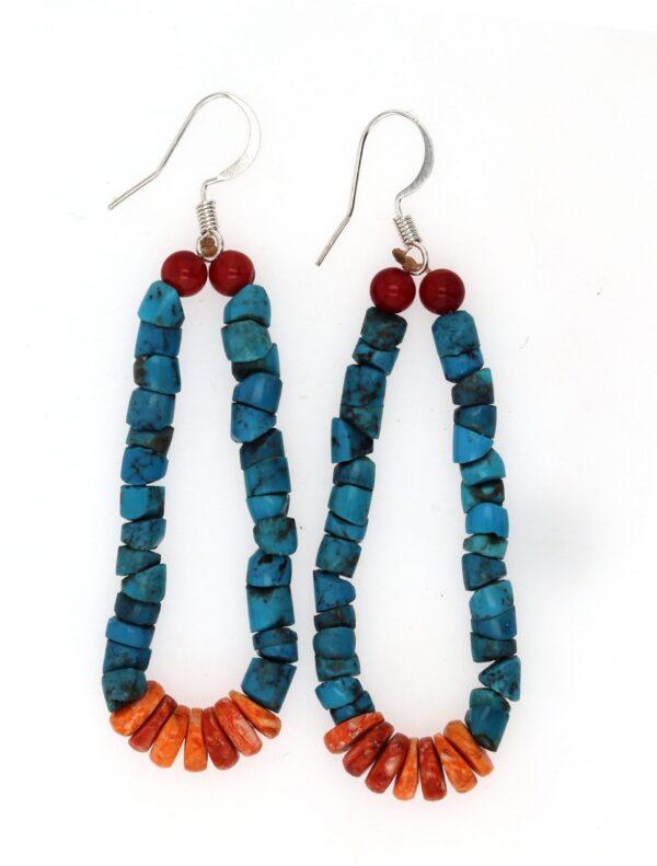 Blue Turquoise Jacla Medium Navajo Earrings