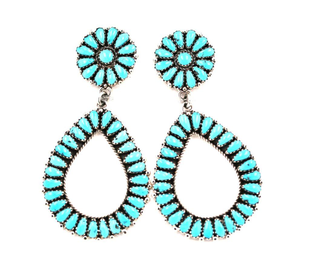 Dangle Post Navajo Cluster Earrings