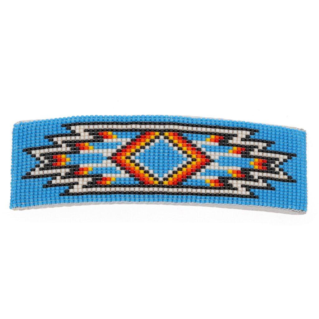 Teal Navajo Beaded Rug Hair Barrette