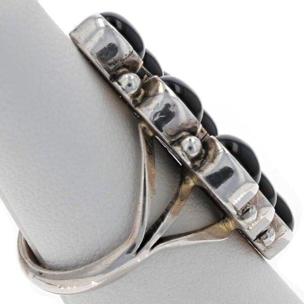 Jet Black Cluster Diamond Ring