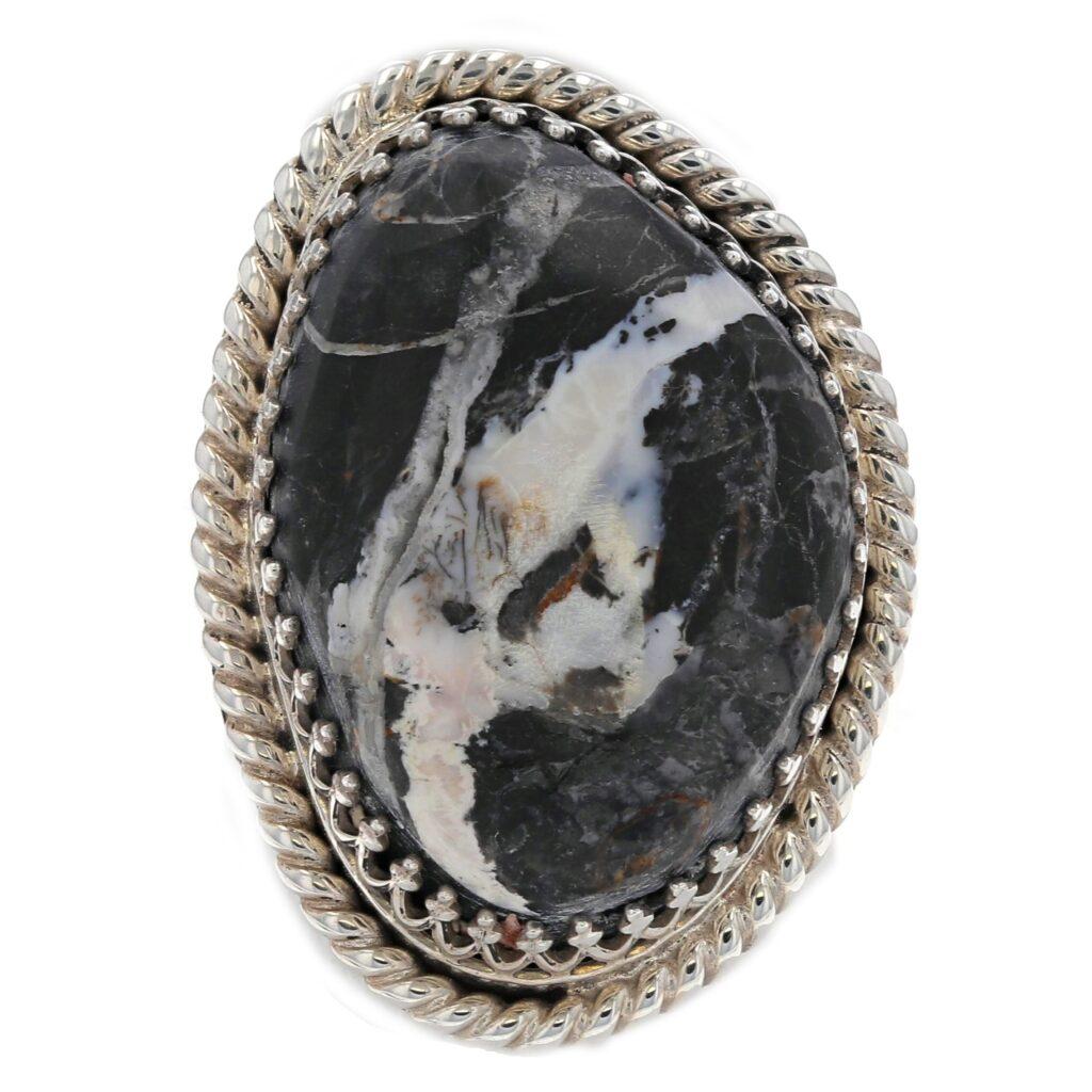 Large White Buffalo Stone Ring