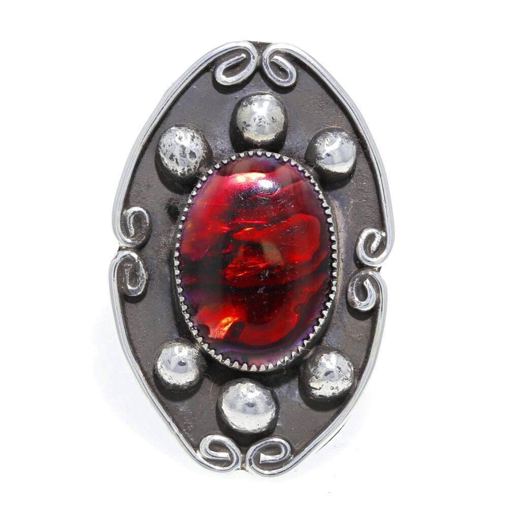 Ladies' Red Paua Shell Ring