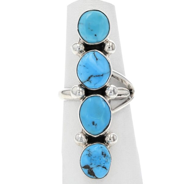 Four Turquoise Row Ring