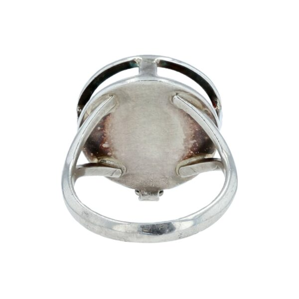 Teme Round Sterling Silver Swap Out Ring Frame Shank