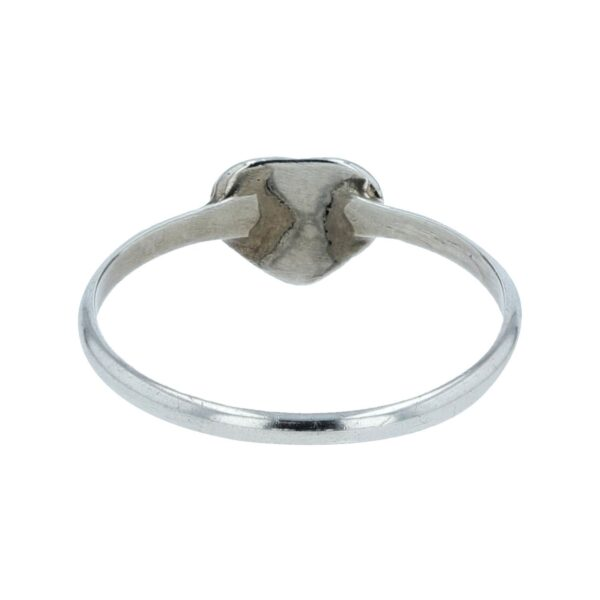 Pink Opal Inlay Heart Shape Small Ring