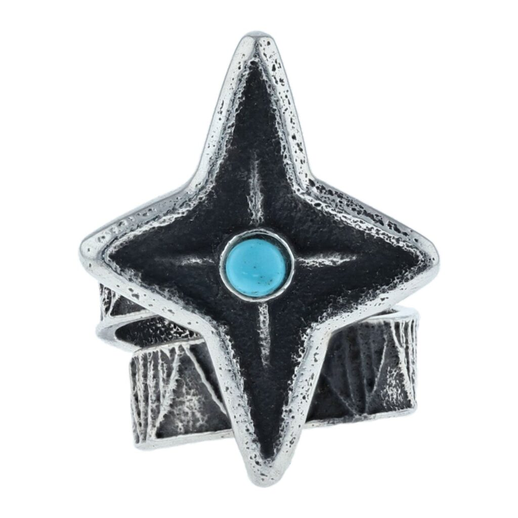 Navajo Cast Sterling Silver Star Ring