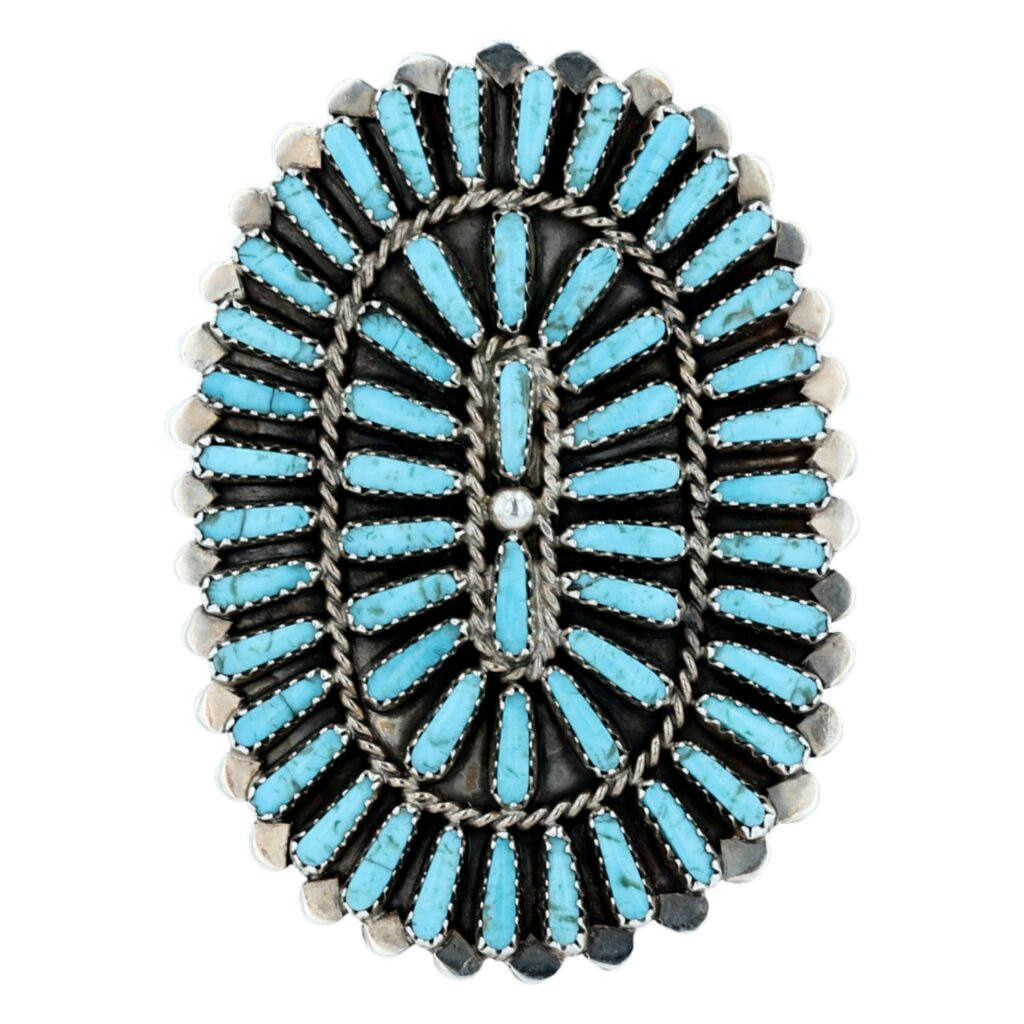 Navajo Turquoise Needle Point Cluster Ring