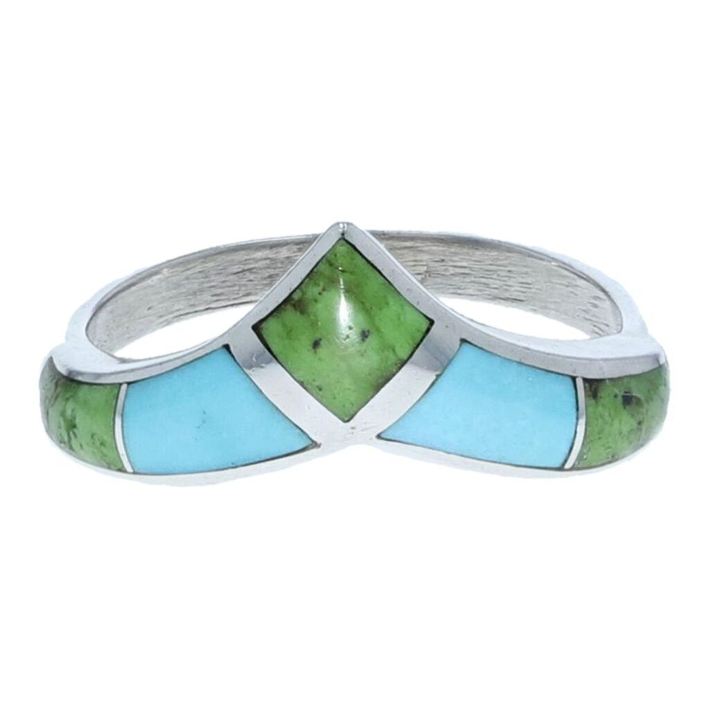 Swooping Arrow Inlay Band Ring