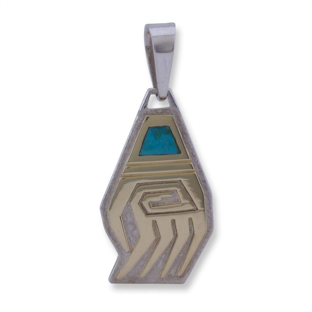 14K Gold Overlay Navajo Bear Claw Pendant