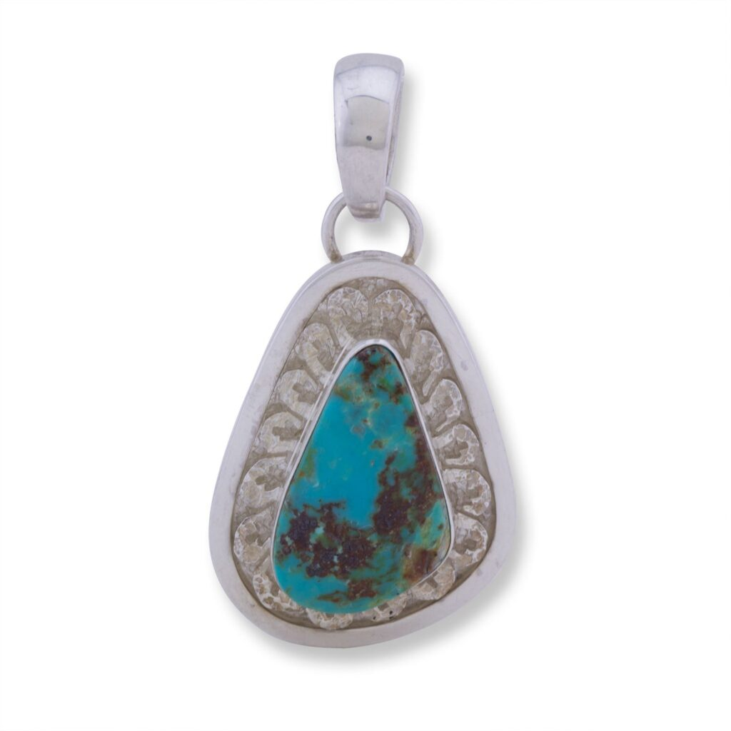 China Mountain Turquoise Overlay Pendant