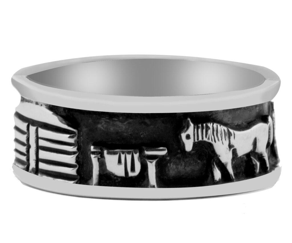 Sterling Silver Navajo Storytelling Ring