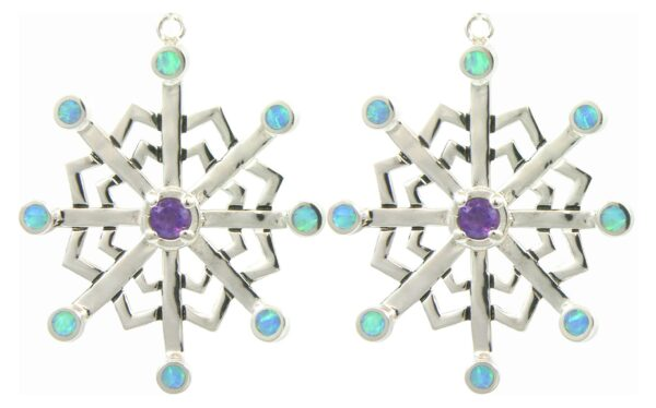 Stellar Snowflake Silver Earrings