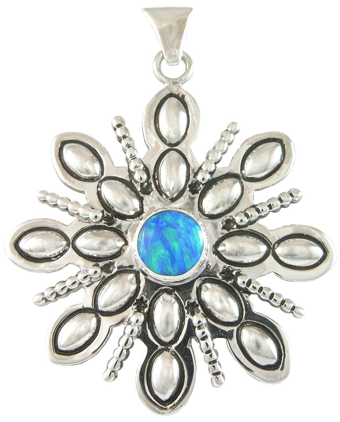 Fancy Winter Snowflake Silver Pendant