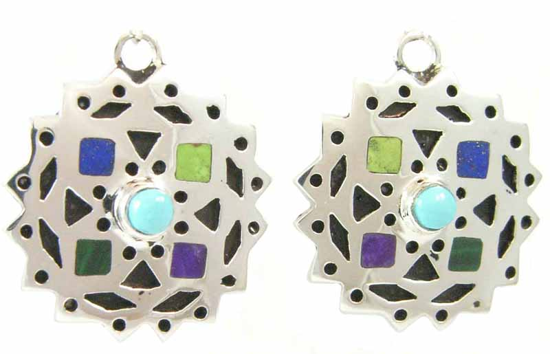 Prism Snowflake Silver Earrings