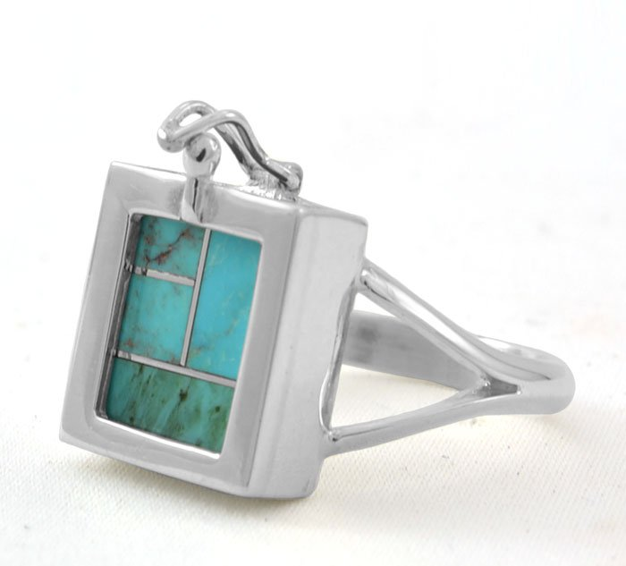Teme Sterling Silver Square Swap Out Inlay Ring