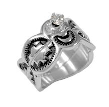 Ladies Navajo Wedding Engagement Ring Set