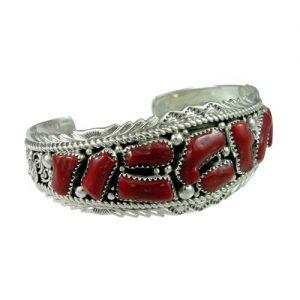 Navajo Coral Row Bracelet