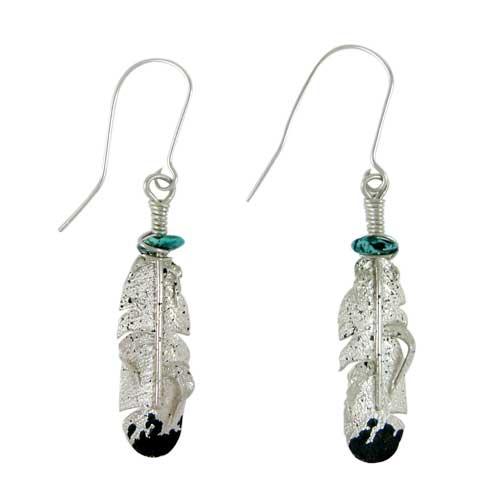 Navajo Silver Turquoise Earrings