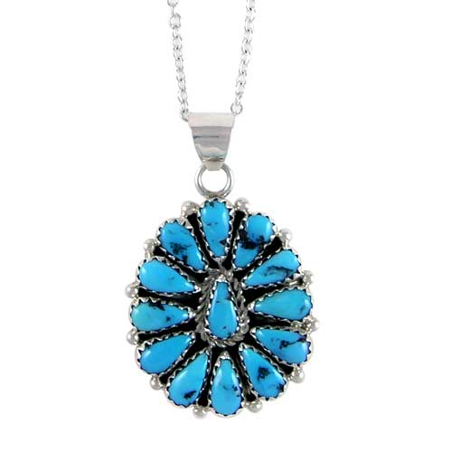 Navajo Circular Cluster Turquoise Necklace