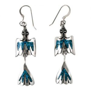Navajo Silver Bird Earrings