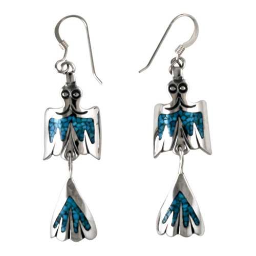 Navajo Silver Bird Earrings