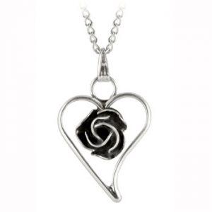Navajo Silver Rose Necklace