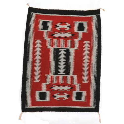 Navajo Storm Pattern Rug By Eleanor Tunney