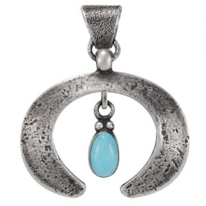 Navajo Revival Style Sterling Silver Naja Pendant