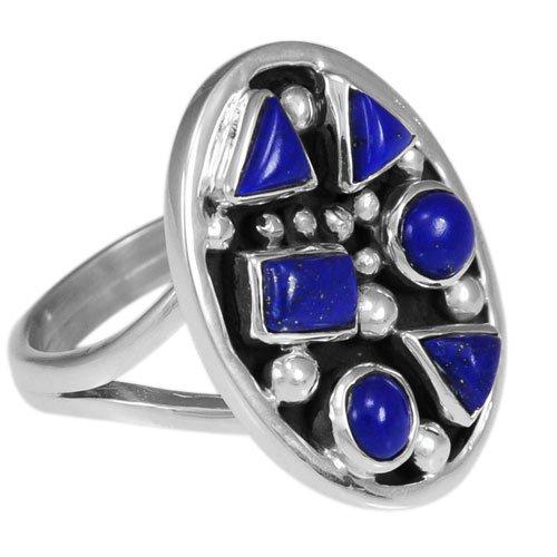 Navajo Silver Abstract Cluster Ring