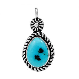 Navajo Sterling Silver Single Stone Pendant