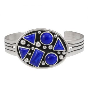 Navajo Silver Abstract Cluster Cuff Bracelet