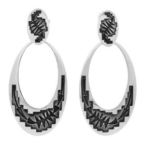 Chasing Arrows Hopi Style Earrings