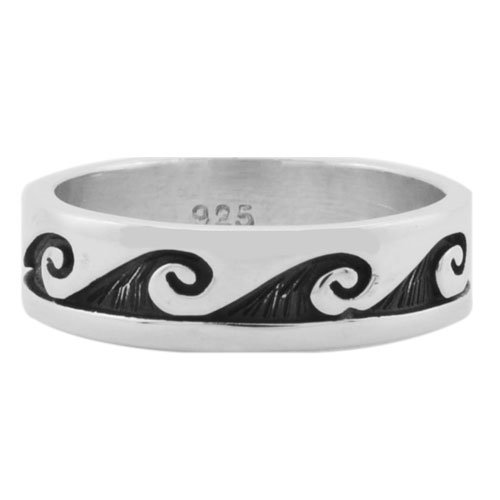Rolling Waves Cutout Overlay Ring