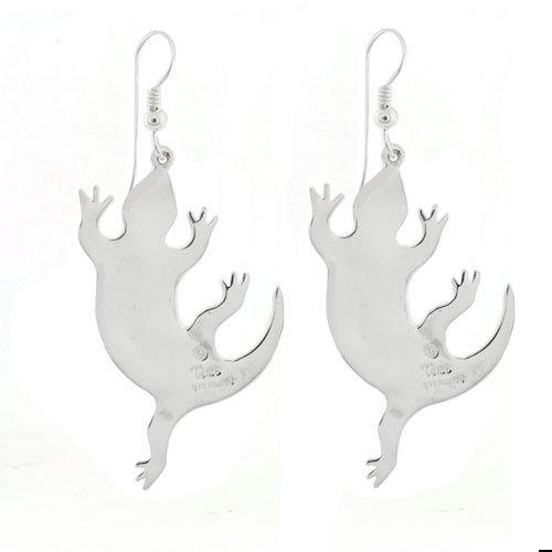 Lizard Open Channel Inlay Earrings