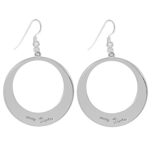 Navajo Silver Trillion Overlay/Cut-Out Earrings
