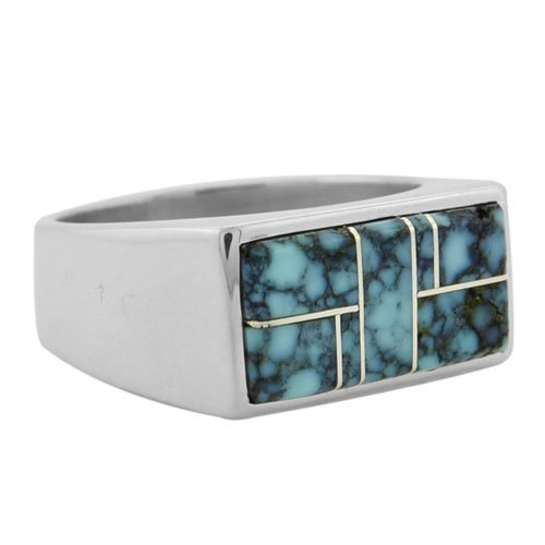 Rectangular Plain Sides Inlay Ring