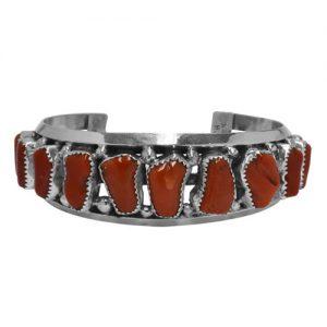 Navajo Freeform Coral Row Bracelet