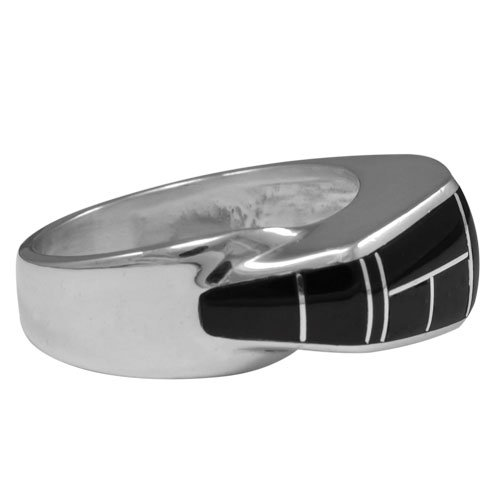 Silver Sky Scraper Inlay Ring