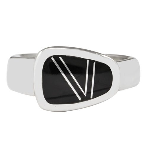 Trapezoid Silver Inlay Ring