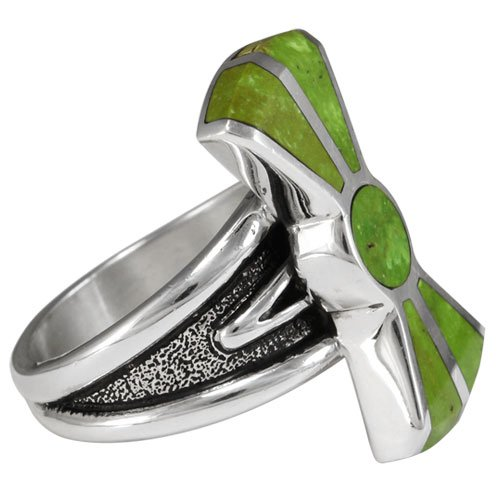 Contemporary Butterfly Inlay Ring