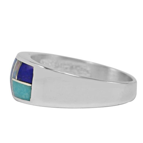 Silver Strip 8mm Silver Inlay Ring
