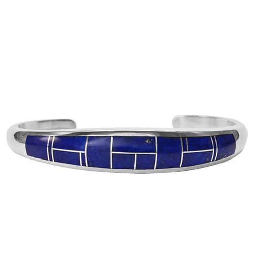 Large Tapered Silver Inlay Bracelet